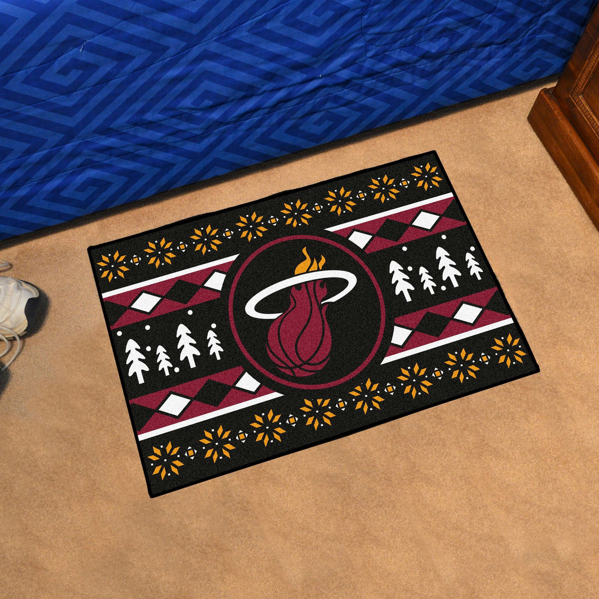 NBA - Holiday Sweater Starter Mat NBA Mats, Rectangular Mats, Holiday Sweater Starter Mat, NBA, Home Fan Mats Miami Heat