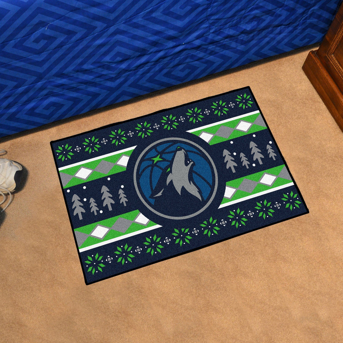 NBA - Holiday Sweater Starter Mat NBA Mats, Rectangular Mats, Holiday Sweater Starter Mat, NBA, Home Fan Mats Minnesota Timberwolves