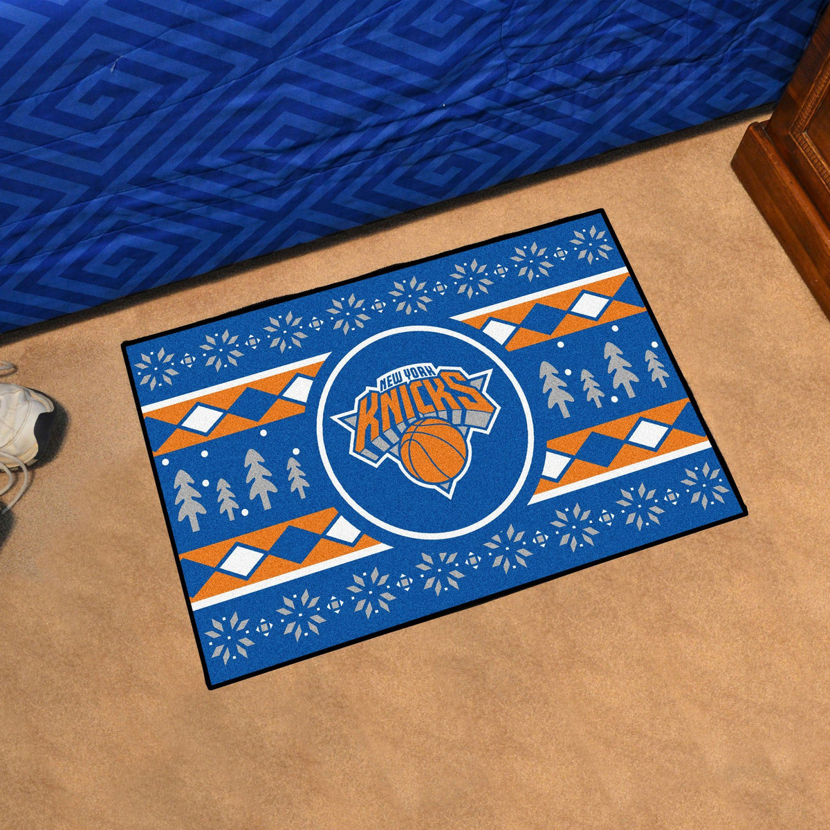 NBA - Holiday Sweater Starter Mat NBA Mats, Rectangular Mats, Holiday Sweater Starter Mat, NBA, Home Fan Mats New York Knicks