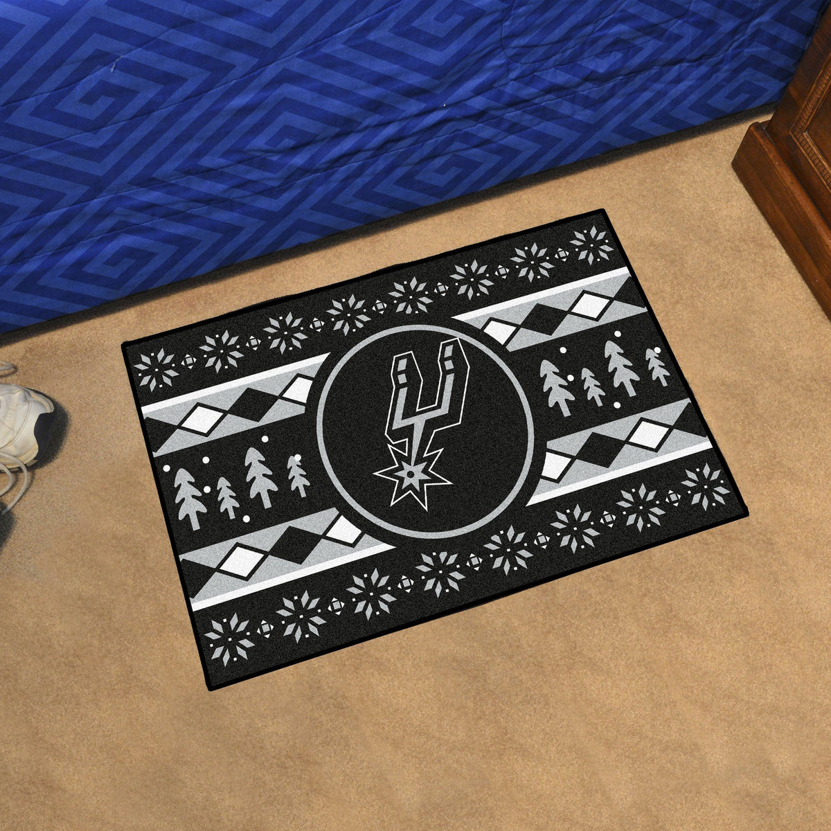 NBA - Holiday Sweater Starter Mat NBA Mats, Rectangular Mats, Holiday Sweater Starter Mat, NBA, Home Fan Mats San Antonio Spurs