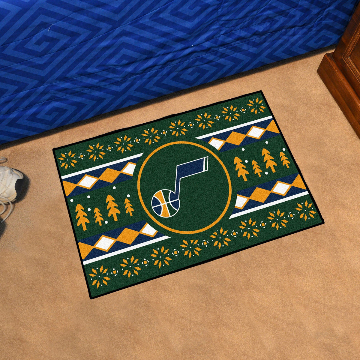 NBA - Holiday Sweater Starter Mat NBA Mats, Rectangular Mats, Holiday Sweater Starter Mat, NBA, Home Fan Mats Utah Jazz