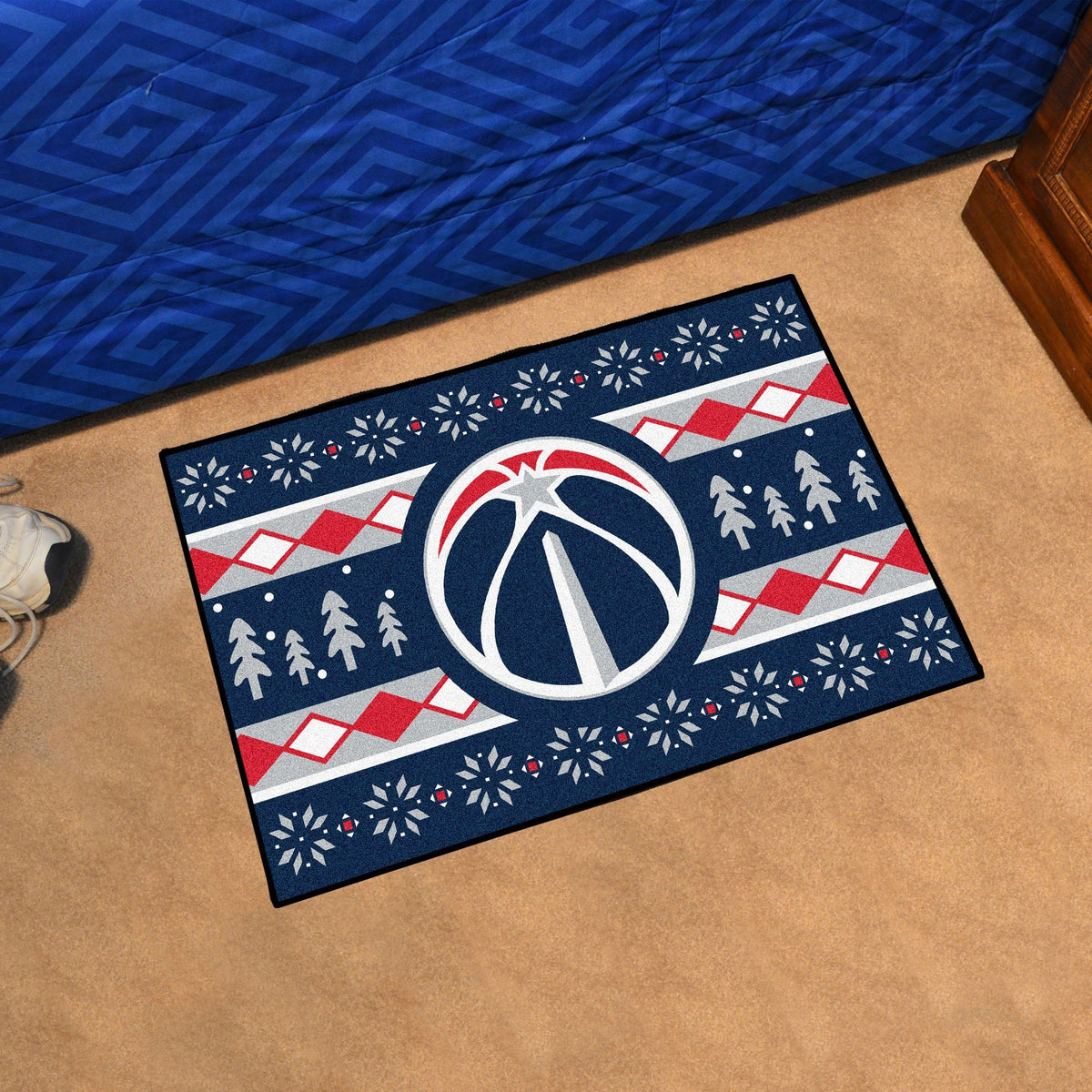 NBA - Holiday Sweater Starter Mat NBA Mats, Rectangular Mats, Holiday Sweater Starter Mat, NBA, Home Fan Mats Washington Wizards