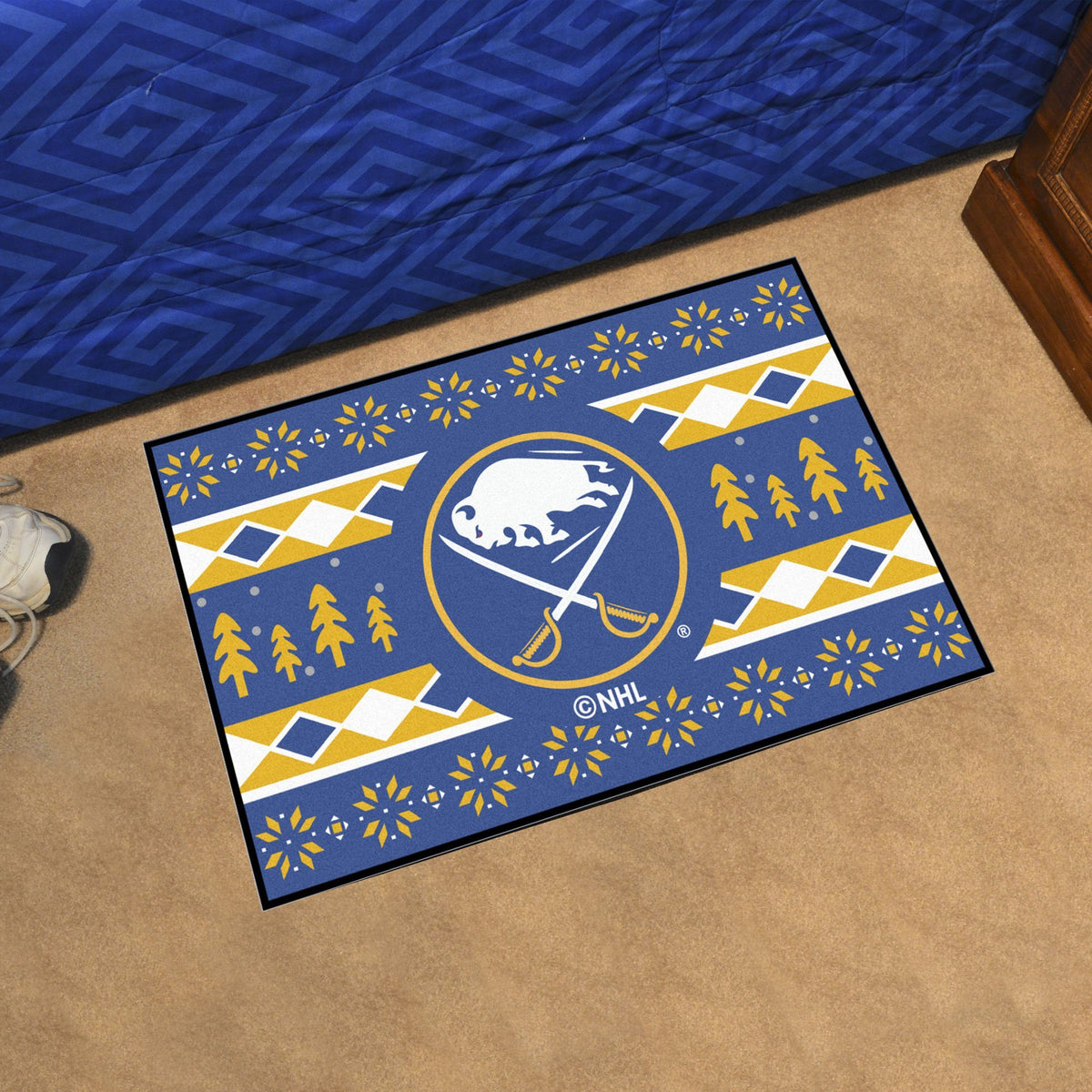 NHL - Holiday Sweater Starter Mat NHL Mats, Rectangular Mats, Holiday Sweater Starter Mat, NHL, Home Fan Mats Buffalo Sabres