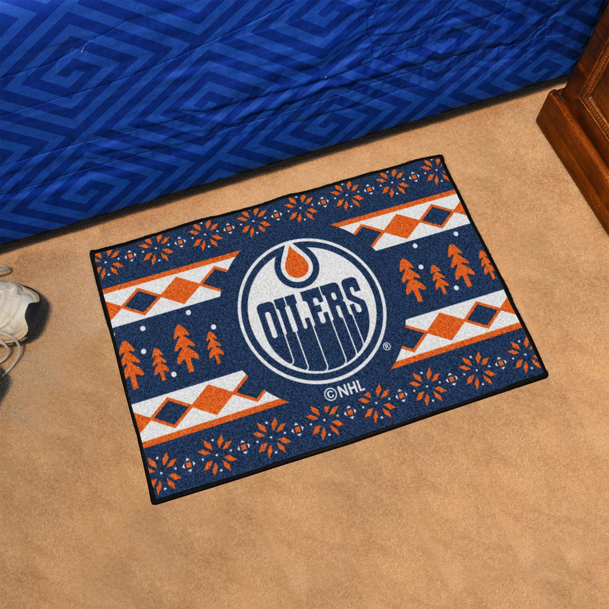NHL - Holiday Sweater Starter Mat NHL Mats, Rectangular Mats, Holiday Sweater Starter Mat, NHL, Home Fan Mats Edmonton Oilers