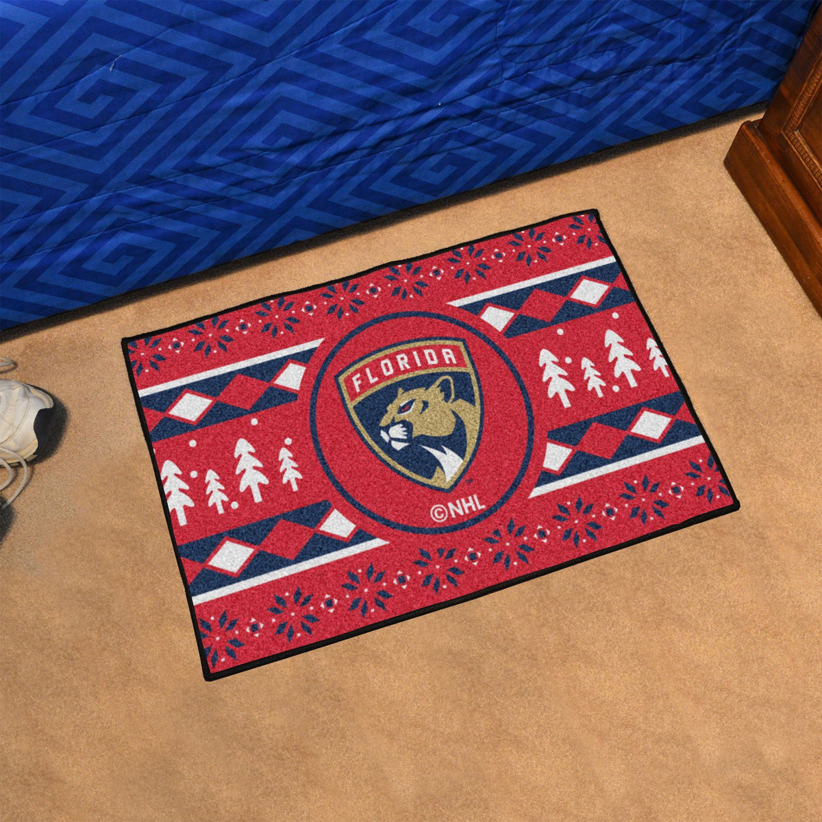 NHL - Holiday Sweater Starter Mat NHL Mats, Rectangular Mats, Holiday Sweater Starter Mat, NHL, Home Fan Mats Florida Panthers
