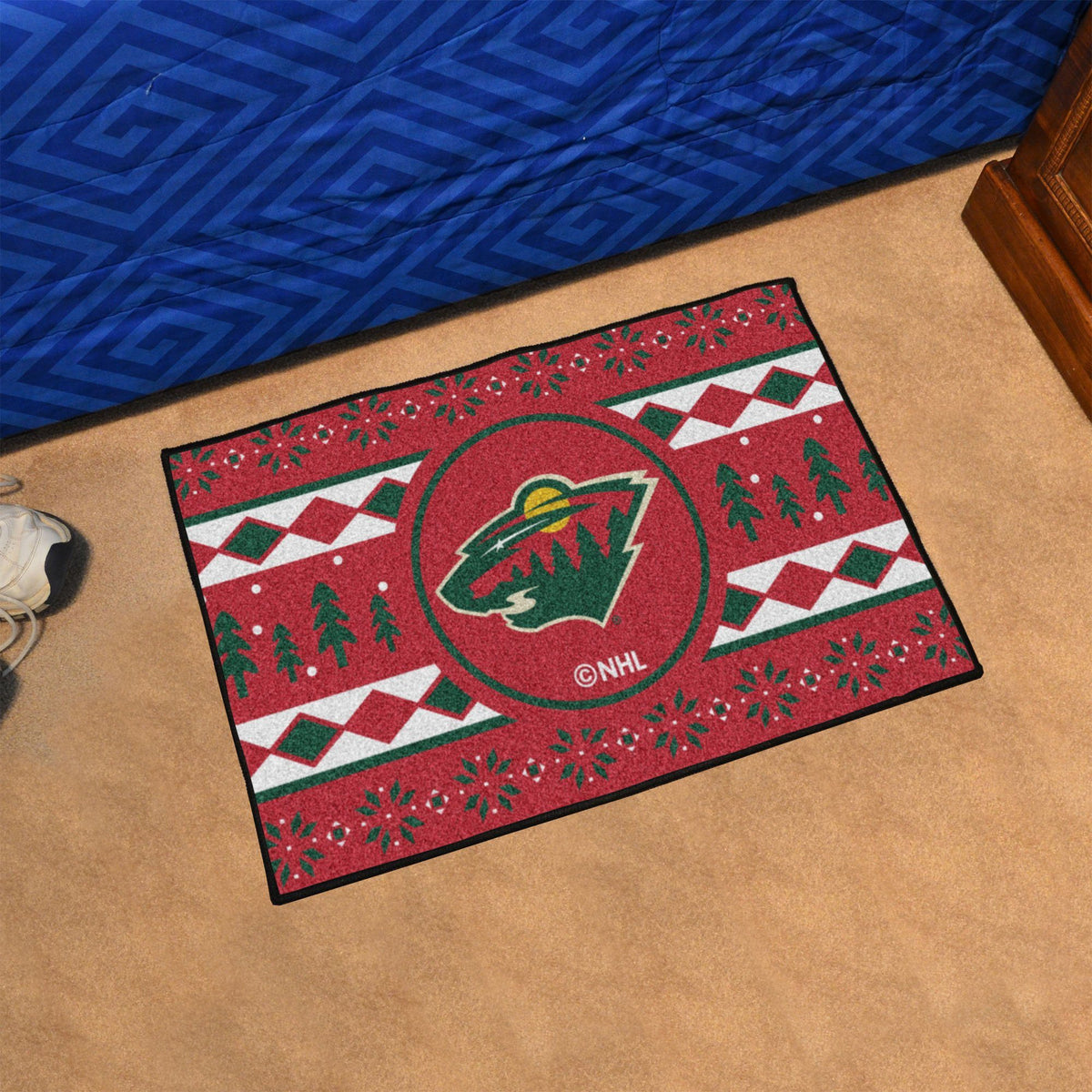 NHL - Holiday Sweater Starter Mat NHL Mats, Rectangular Mats, Holiday Sweater Starter Mat, NHL, Home Fan Mats Minnesota Wild