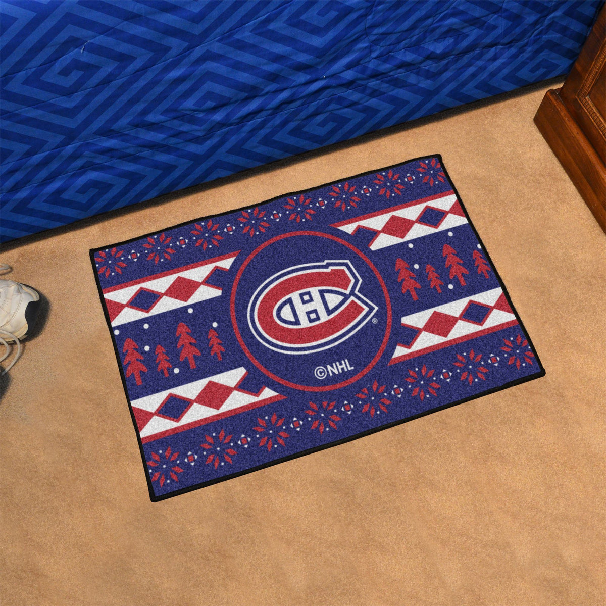 NHL - Holiday Sweater Starter Mat NHL Mats, Rectangular Mats, Holiday Sweater Starter Mat, NHL, Home Fan Mats Montreal Canadiens