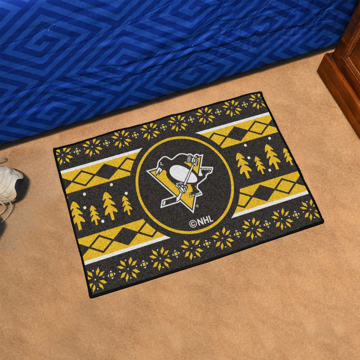 NHL - Holiday Sweater Starter Mat NHL Mats, Rectangular Mats, Holiday Sweater Starter Mat, NHL, Home Fan Mats Pittsburgh Penguins
