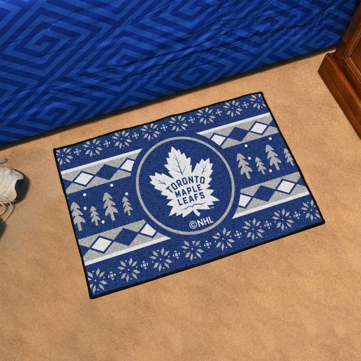 NHL - Holiday Sweater Starter Mat NHL Mats, Rectangular Mats, Holiday Sweater Starter Mat, NHL, Home Fan Mats Toronto Maple Leafs