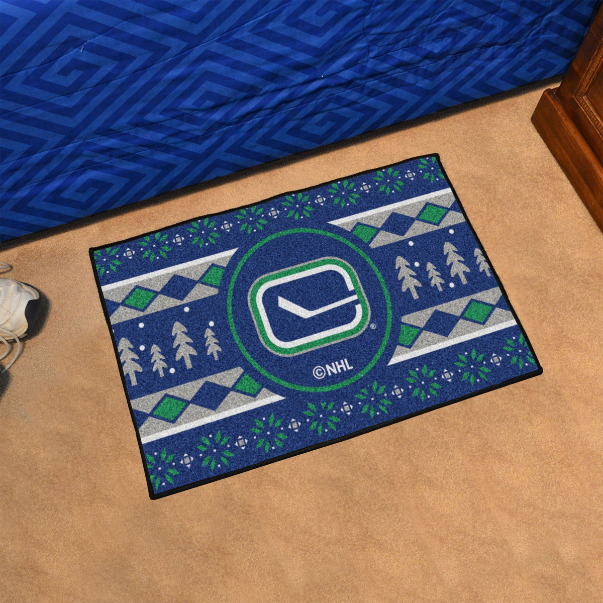 NHL - Holiday Sweater Starter Mat NHL Mats, Rectangular Mats, Holiday Sweater Starter Mat, NHL, Home Fan Mats Vancouver Canucks