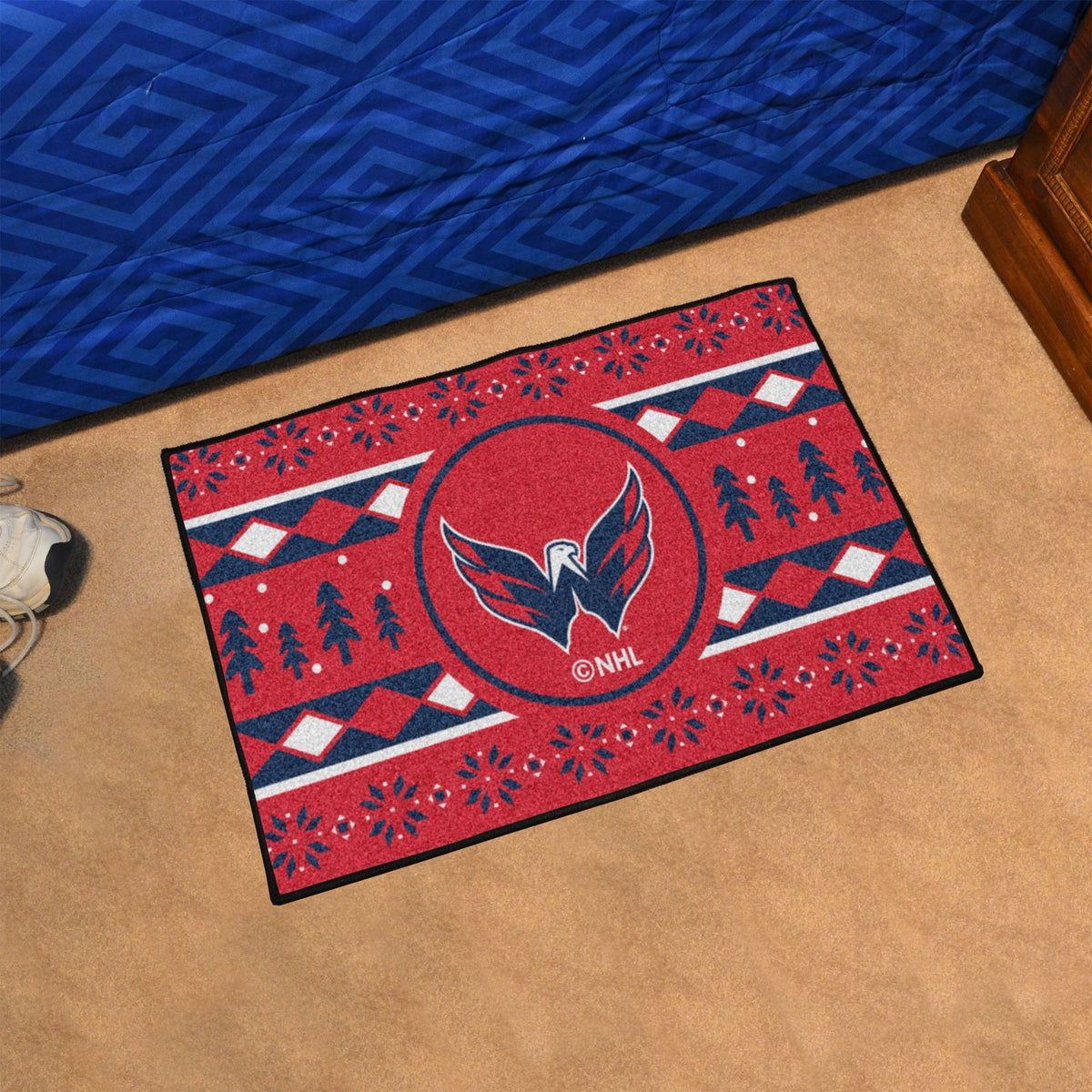 NHL - Holiday Sweater Starter Mat NHL Mats, Rectangular Mats, Holiday Sweater Starter Mat, NHL, Home Fan Mats Washington Capitals