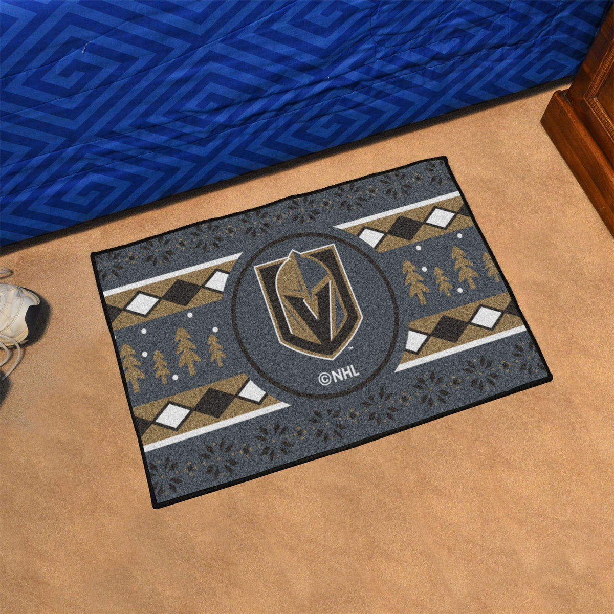 NHL - Holiday Sweater Starter Mat NHL Mats, Rectangular Mats, Holiday Sweater Starter Mat, NHL, Home Fan Mats Vegas Golden Knights