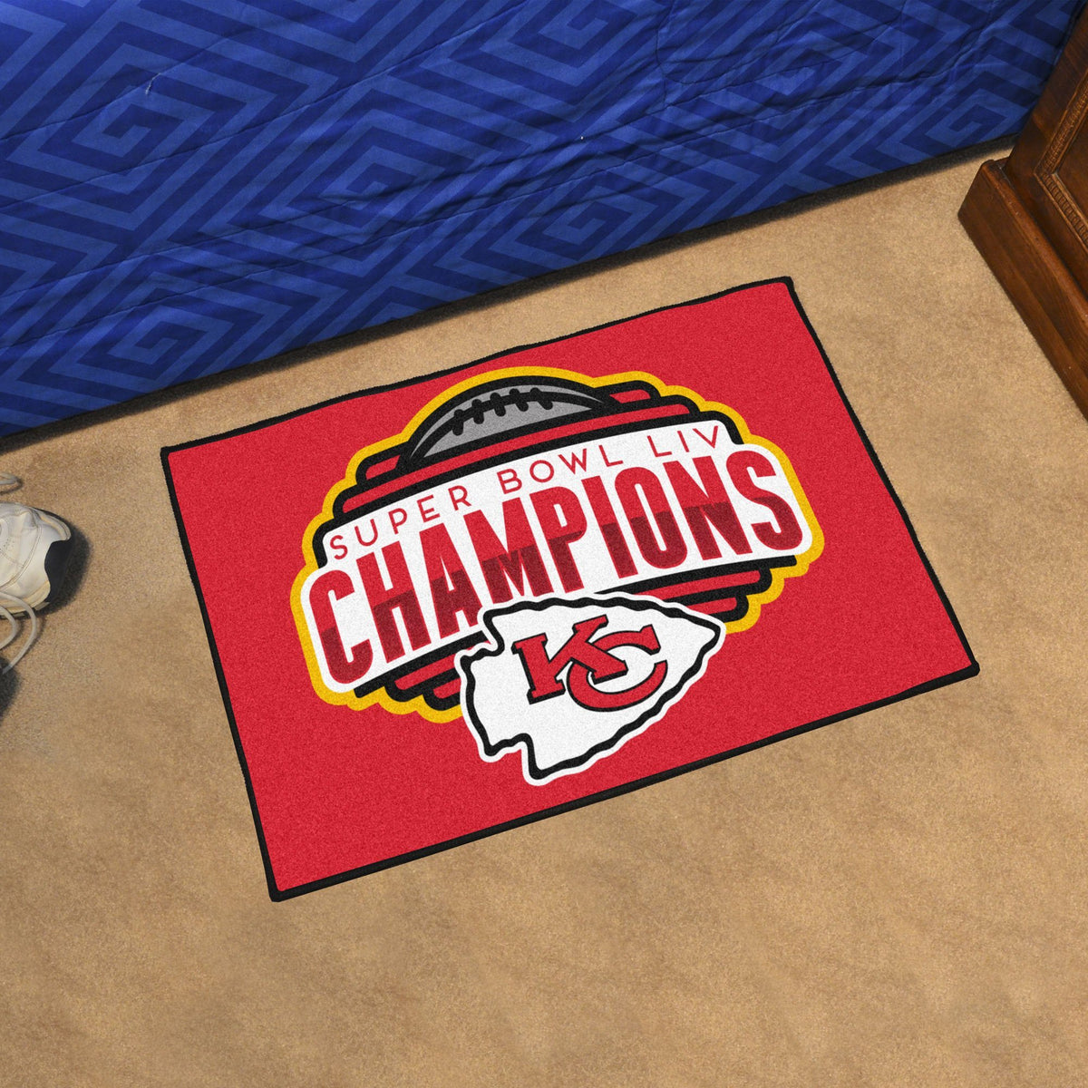 NFL - Kansas City Chiefs Super Bowl LIV Starter Mat NFL Mats, Rectangular Mats, Championship Starter Mat, NFL, Home Fan Mats Kansas City Chiefs