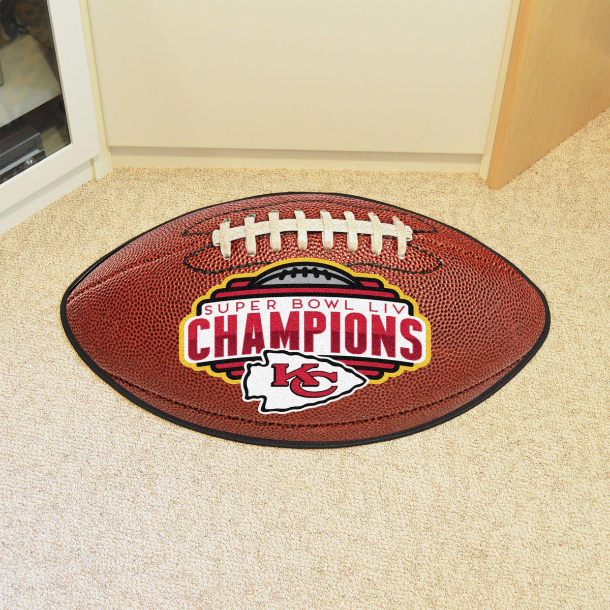 NFL - Football Mat NFL Mats, Custom Shape Rugs, Football Mat, NFL, Home Fan Mats Kansas City Chiefs 2