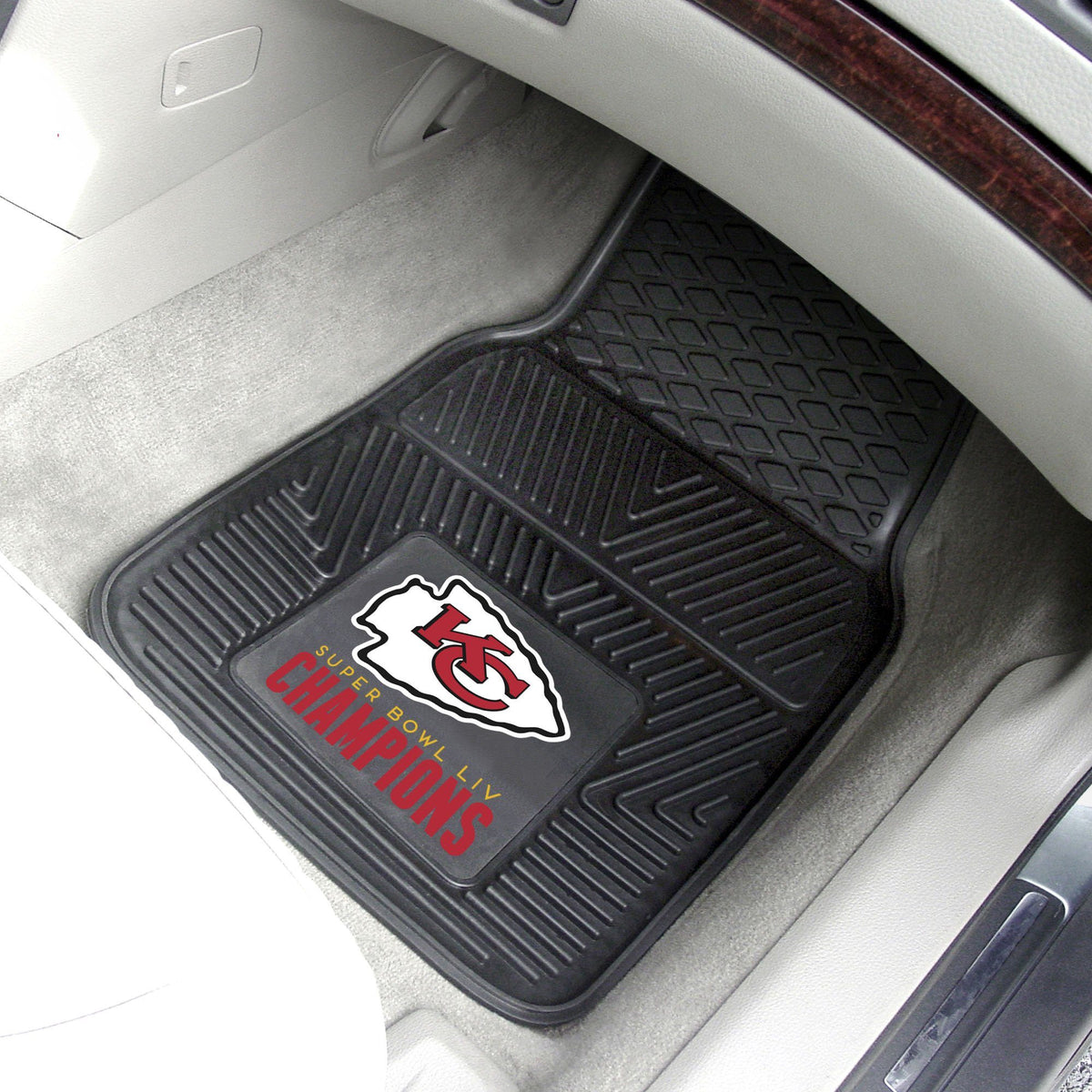 NFL - 2-pc Vinyl Car Mat Set NFL Mats, Front Car Mats, 2-pc Vinyl Car Mat Set, NFL, Auto Fan Mats Kansas City Chiefs 2