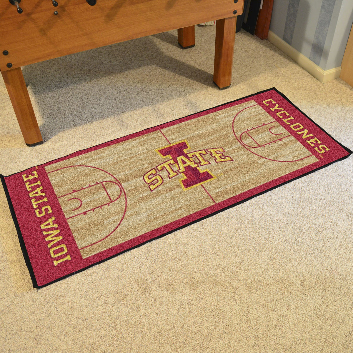Collegiate - NCAA Basketball Runner Collegiate Mats, Rectangular Mats, NCAA Basketball Runner, Collegiate, Home Fan Mats Iowa State
