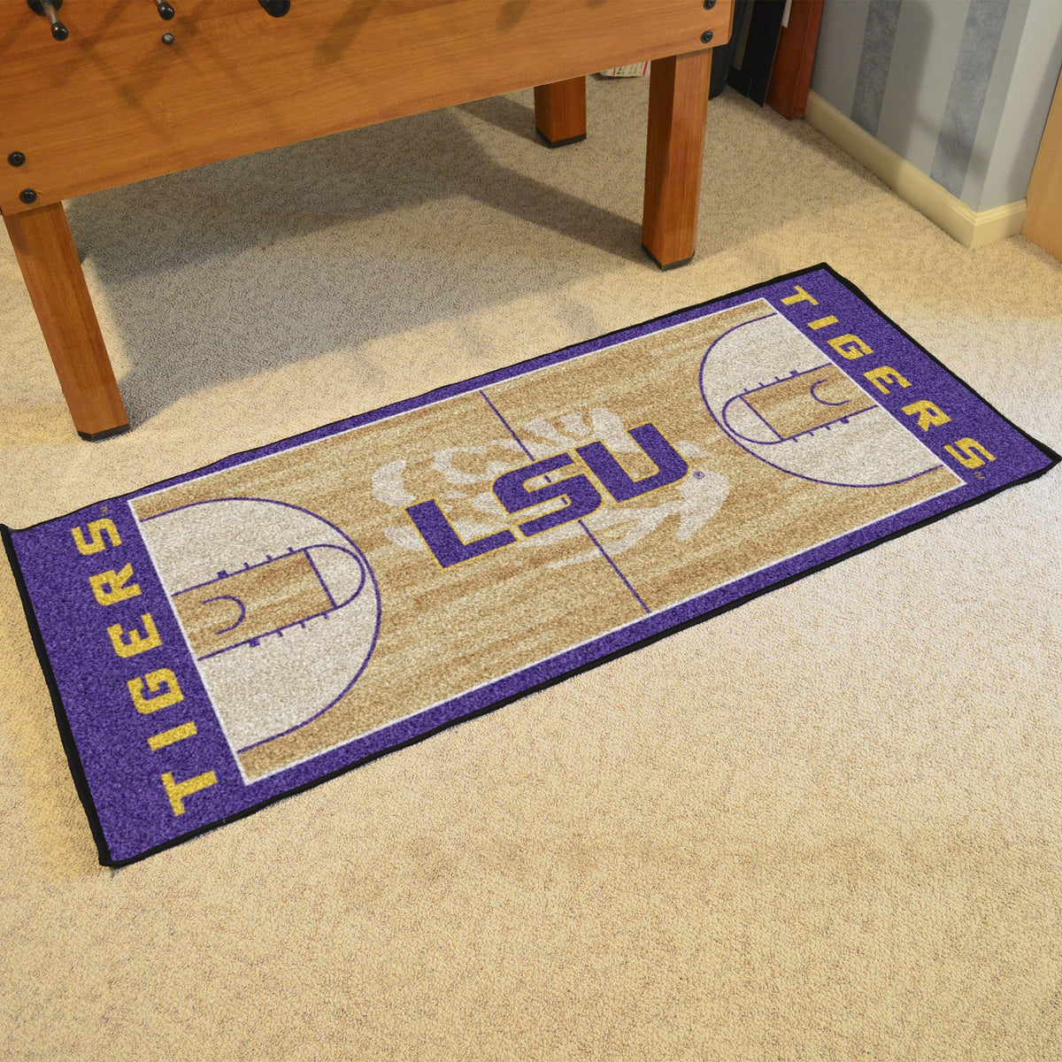 Collegiate - NCAA Basketball Runner Collegiate Mats, Rectangular Mats, NCAA Basketball Runner, Collegiate, Home Fan Mats LSU