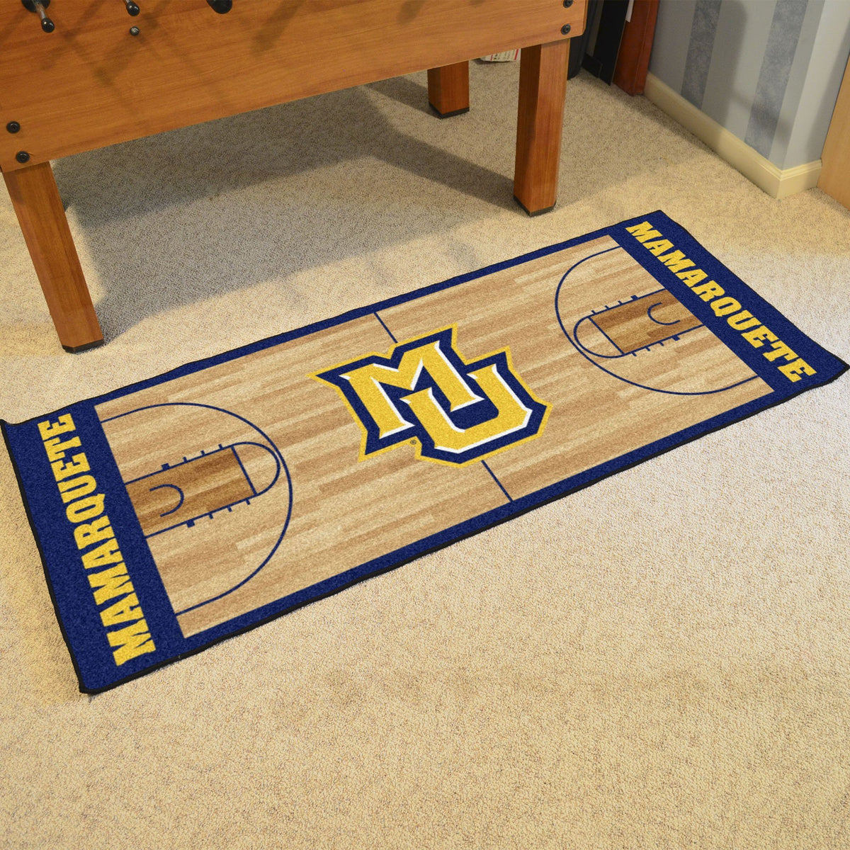 Collegiate - NCAA Basketball Runner Collegiate Mats, Rectangular Mats, NCAA Basketball Runner, Collegiate, Home Fan Mats Marquette