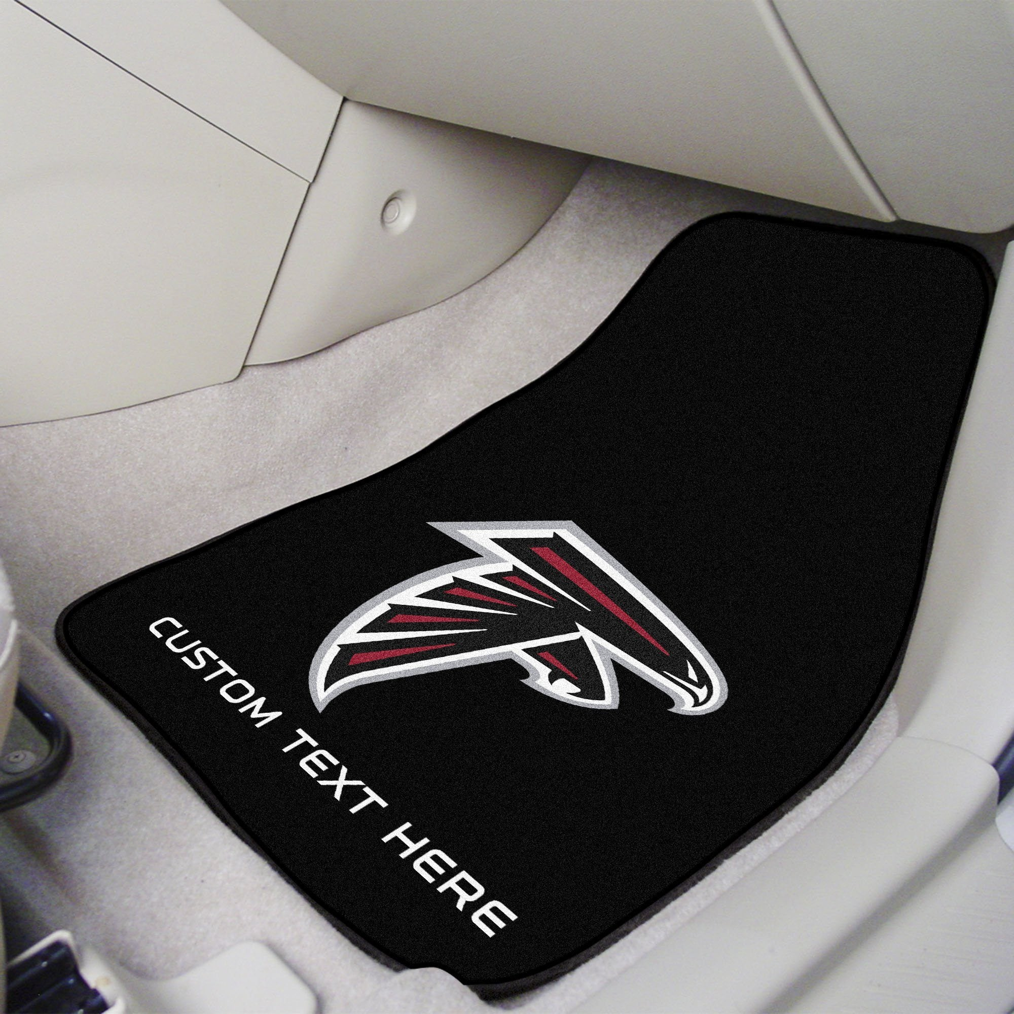 NFL Personalized 2-pc Carpet Car Mat Set Personalized 2-pc Carpet Car Mat Set Fan Mats Arizona Cardinals