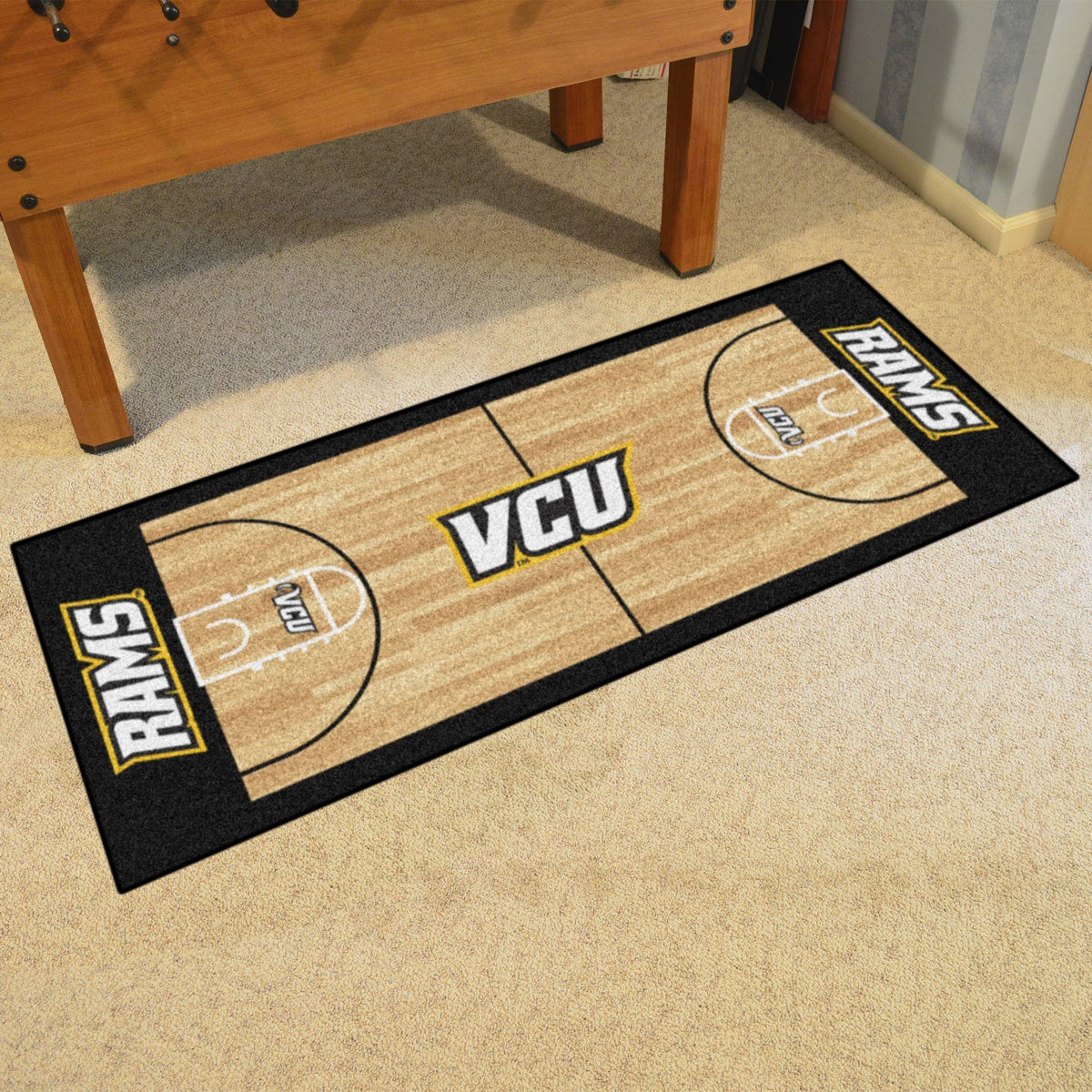 Collegiate - NCAA Basketball Runner Collegiate Mats, Rectangular Mats, NCAA Basketball Runner, Collegiate, Home Fan Mats VCU