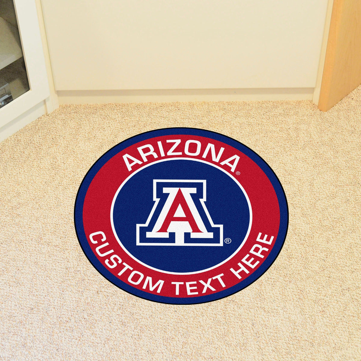 Collegiate Personalized Roundel Mat Personalized Roundel Mat Fan Mats University of Arizona