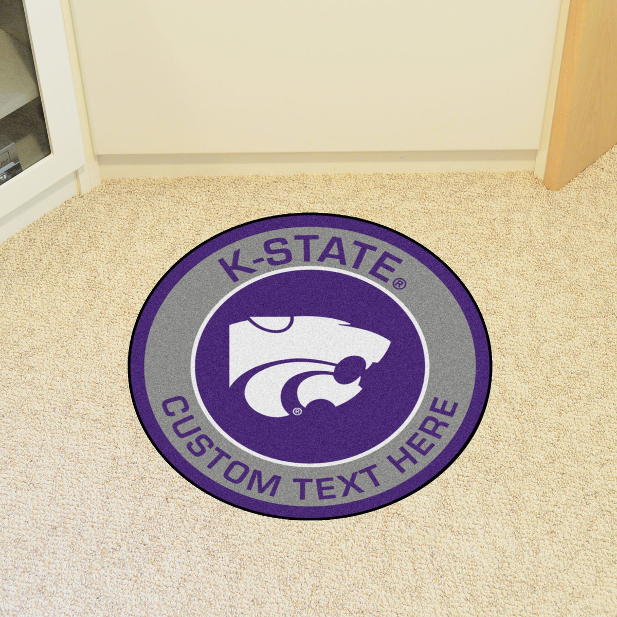 Collegiate Personalized Roundel Mat Personalized Roundel Mat Fan Mats Kansas State University
