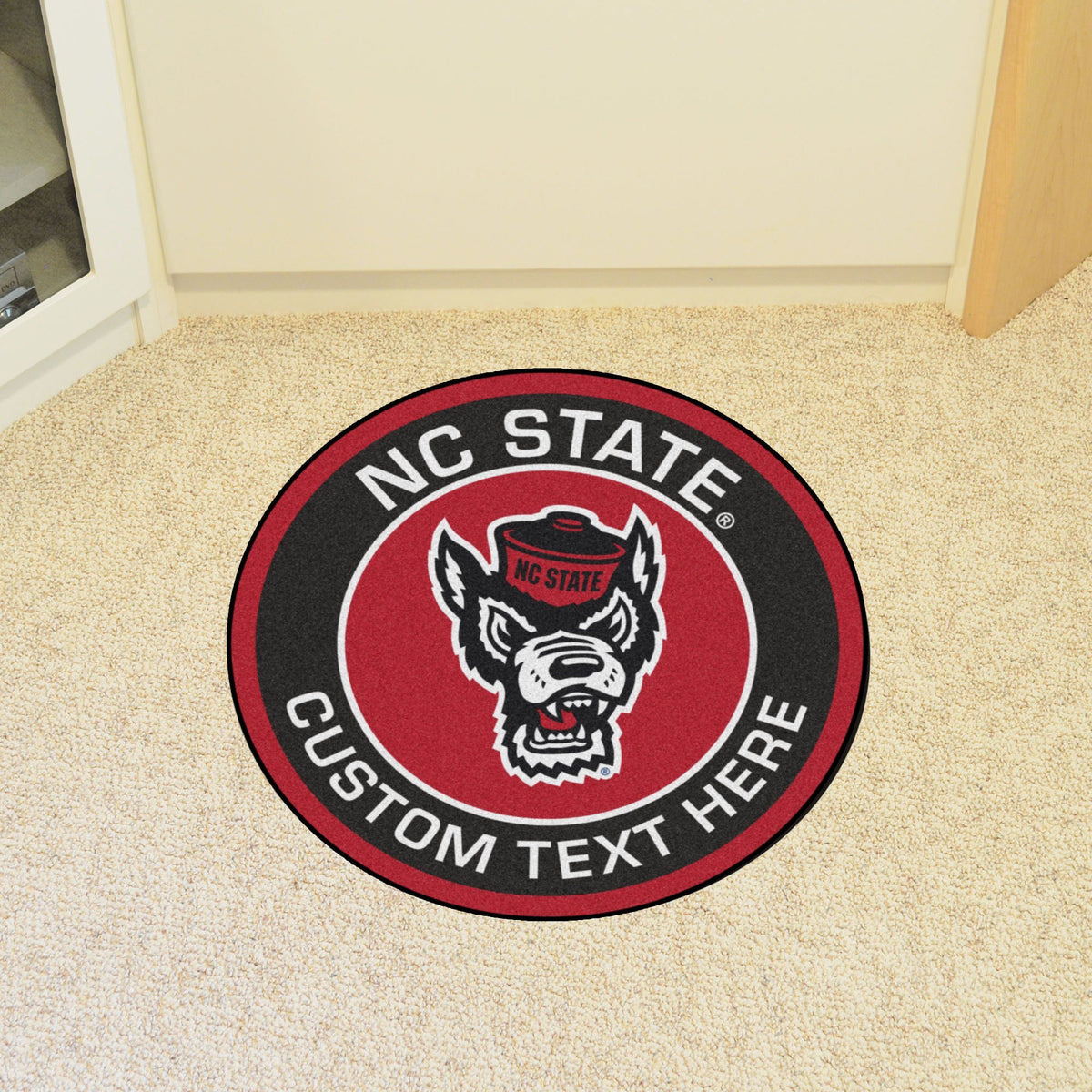Collegiate Personalized Roundel Mat Personalized Roundel Mat Fan Mats North Carolina State University