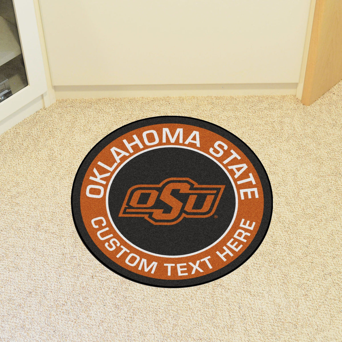 Collegiate Personalized Roundel Mat Personalized Roundel Mat Fan Mats Oklahoma State University