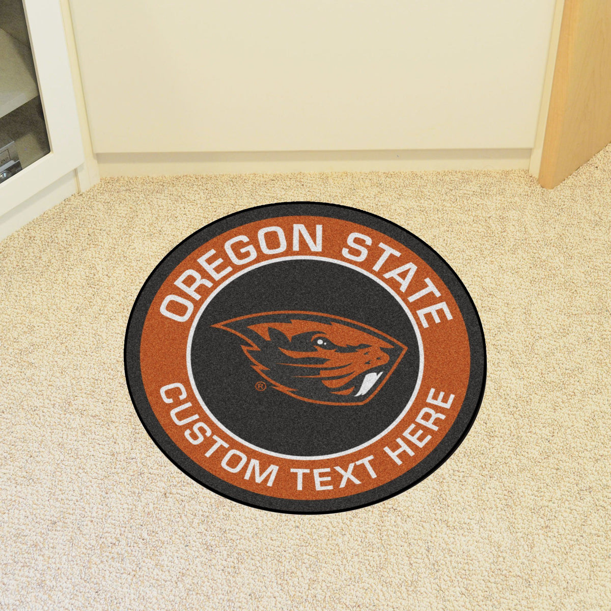 Collegiate Personalized Roundel Mat Personalized Roundel Mat Fan Mats Oregon State University