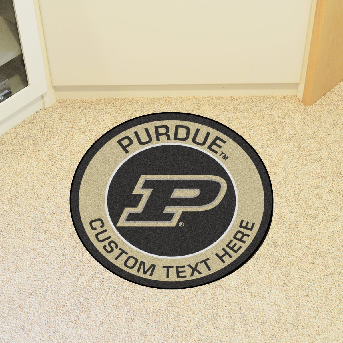 Collegiate Personalized Roundel Mat Personalized Roundel Mat Fan Mats Purdue University