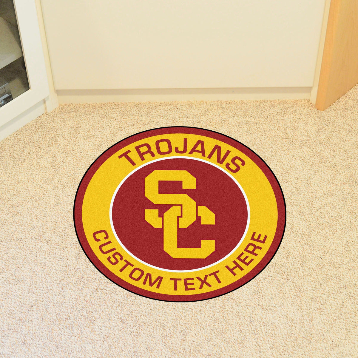 Collegiate Personalized Roundel Mat Personalized Roundel Mat Fan Mats University of Southern California