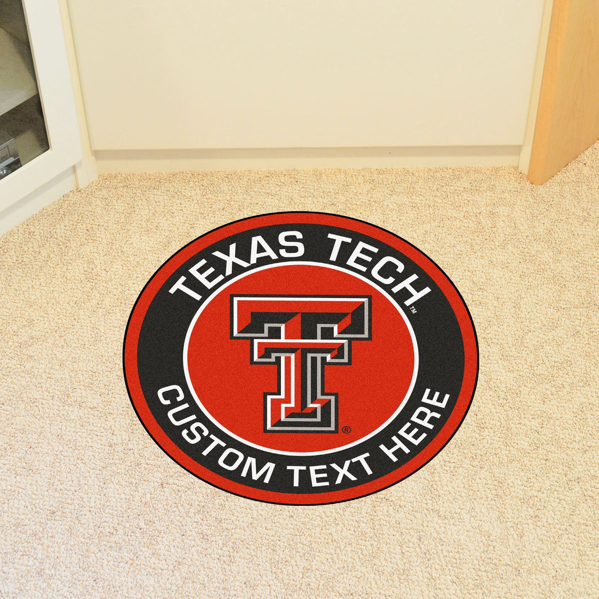 Collegiate Personalized Roundel Mat Personalized Roundel Mat Fan Mats Texas Tech University