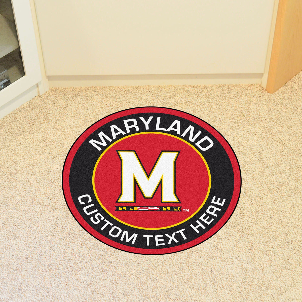 Collegiate Personalized Roundel Mat Personalized Roundel Mat Fan Mats University of Maryland
