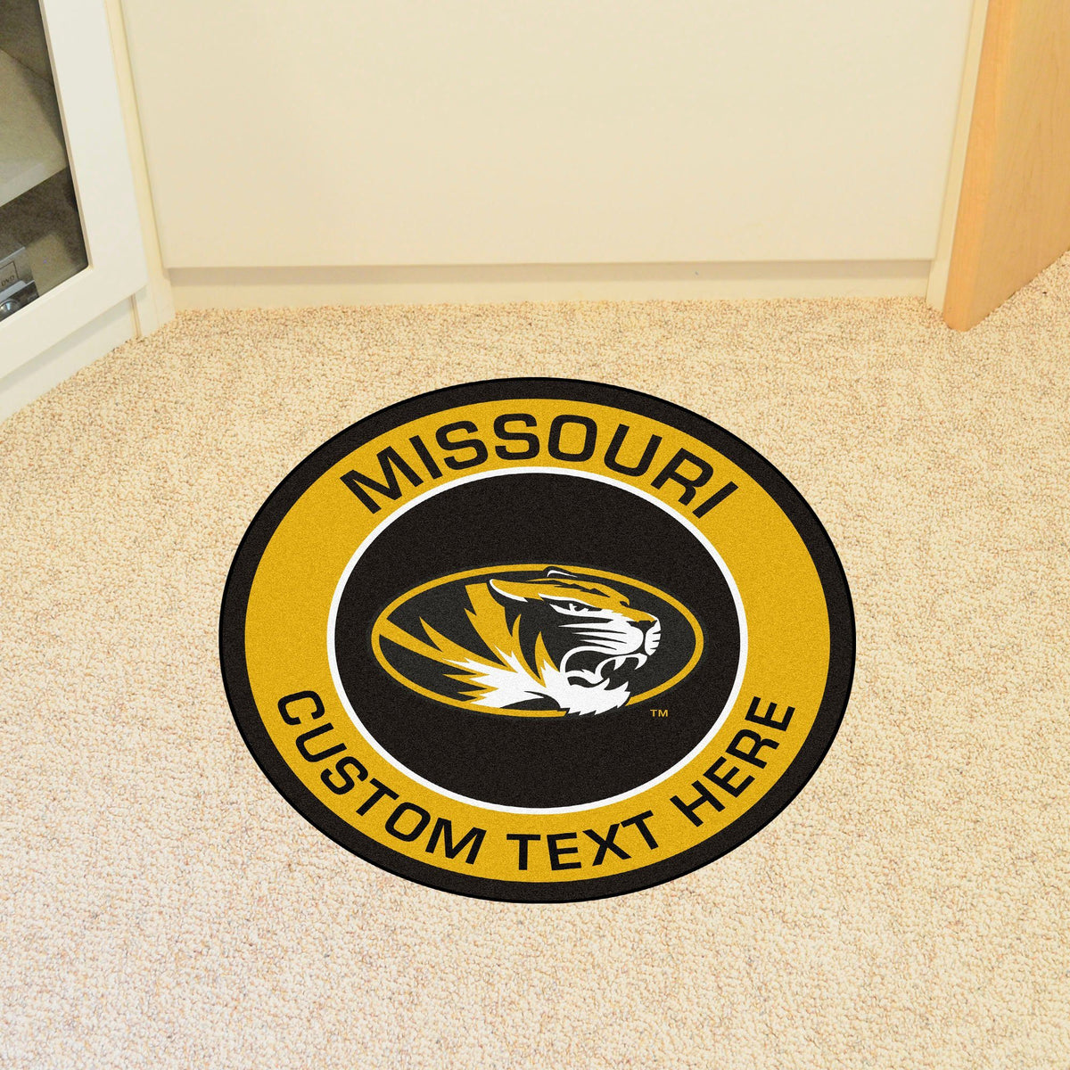 Collegiate Personalized Roundel Mat Personalized Roundel Mat Fan Mats University of Missouri