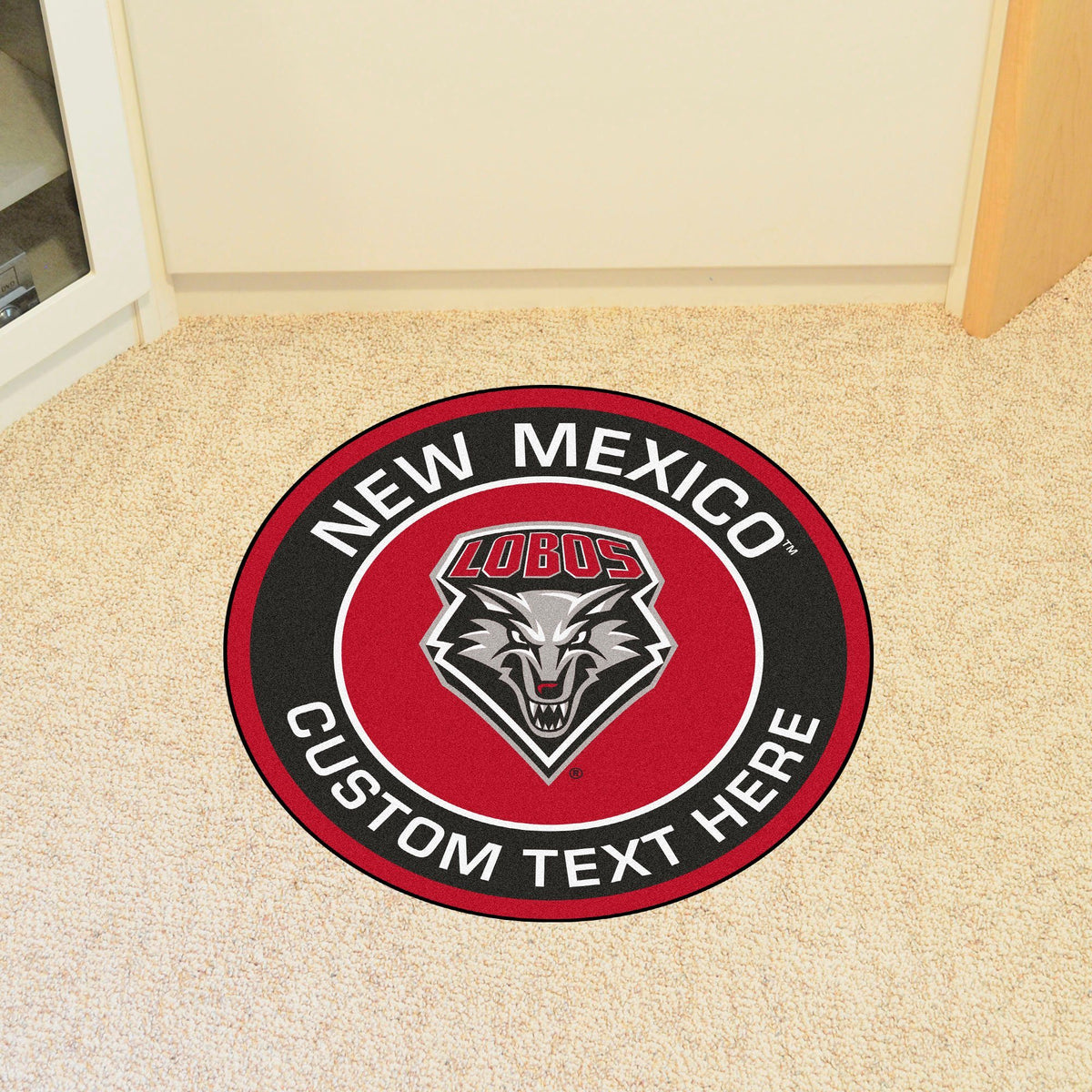Collegiate Personalized Roundel Mat Personalized Roundel Mat Fan Mats University of New Mexico