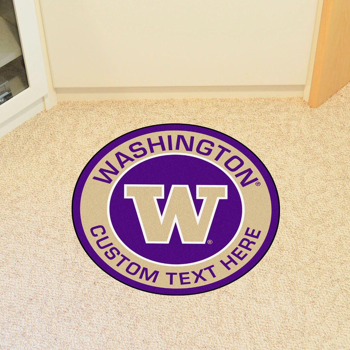 Collegiate Personalized Roundel Mat Personalized Roundel Mat Fan Mats University of Washington