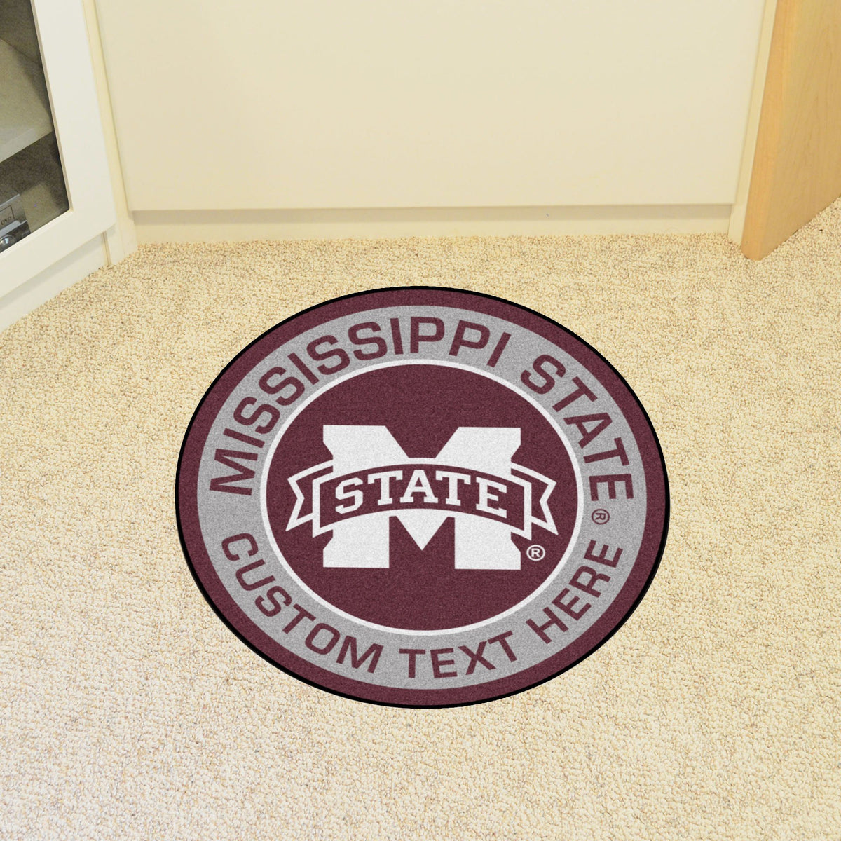 Collegiate Personalized Roundel Mat Personalized Roundel Mat Fan Mats Mississippi State University