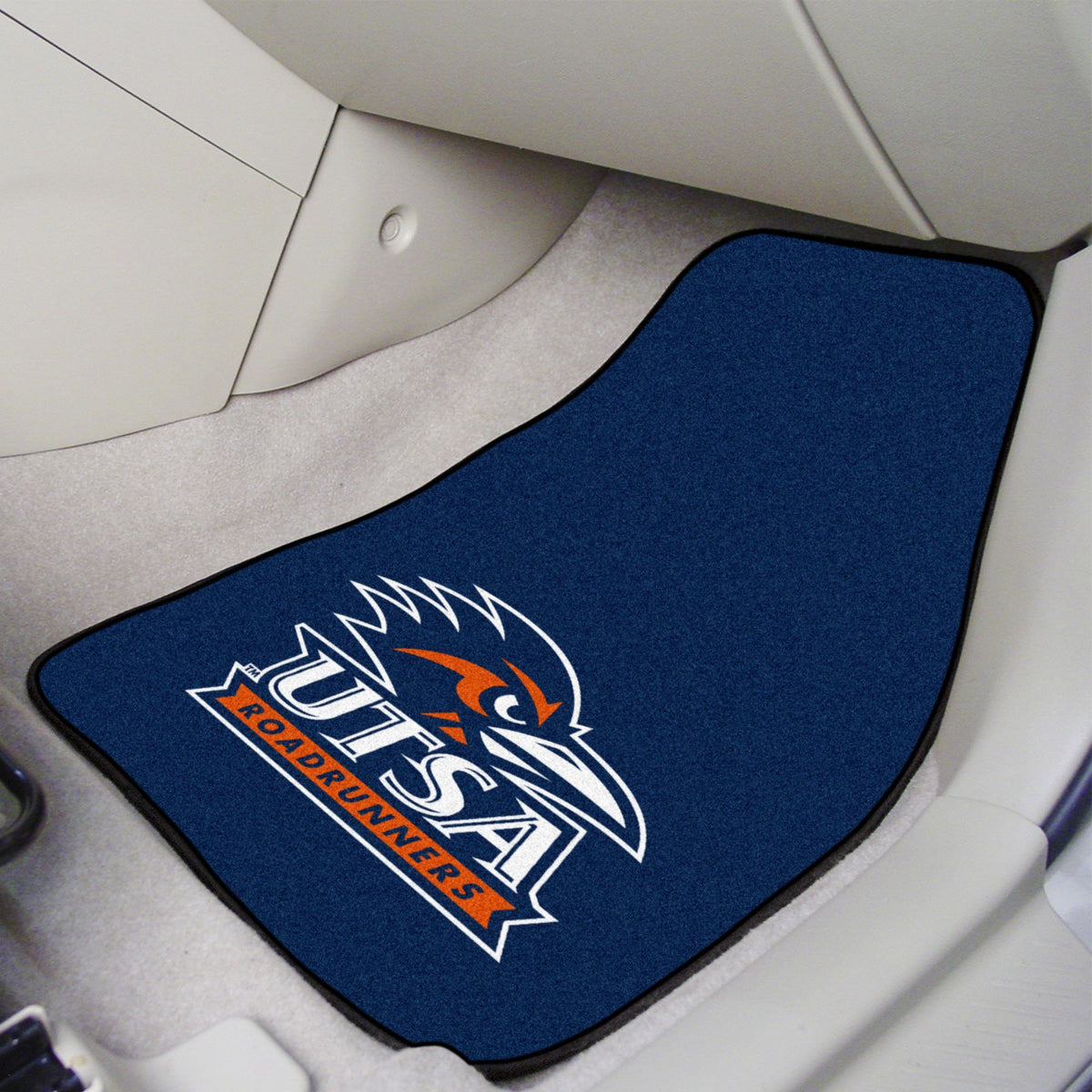 Collegiate - Carpet Car Mat, 2-Piece Set: T - Z Collegiate Car Mat, Front Car Mats, 2-pc Carpet Car Mat Set, Collegiate, Auto Fan Mats UTSA