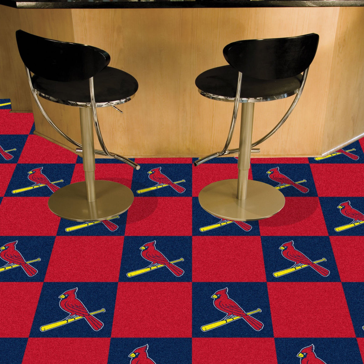 MLB - Team Carpet Tiles MLB Mats, Carpet Tile Flooring, Team Carpet Tiles, MLB, Home Fan Mats St. Louis Cardinals 2