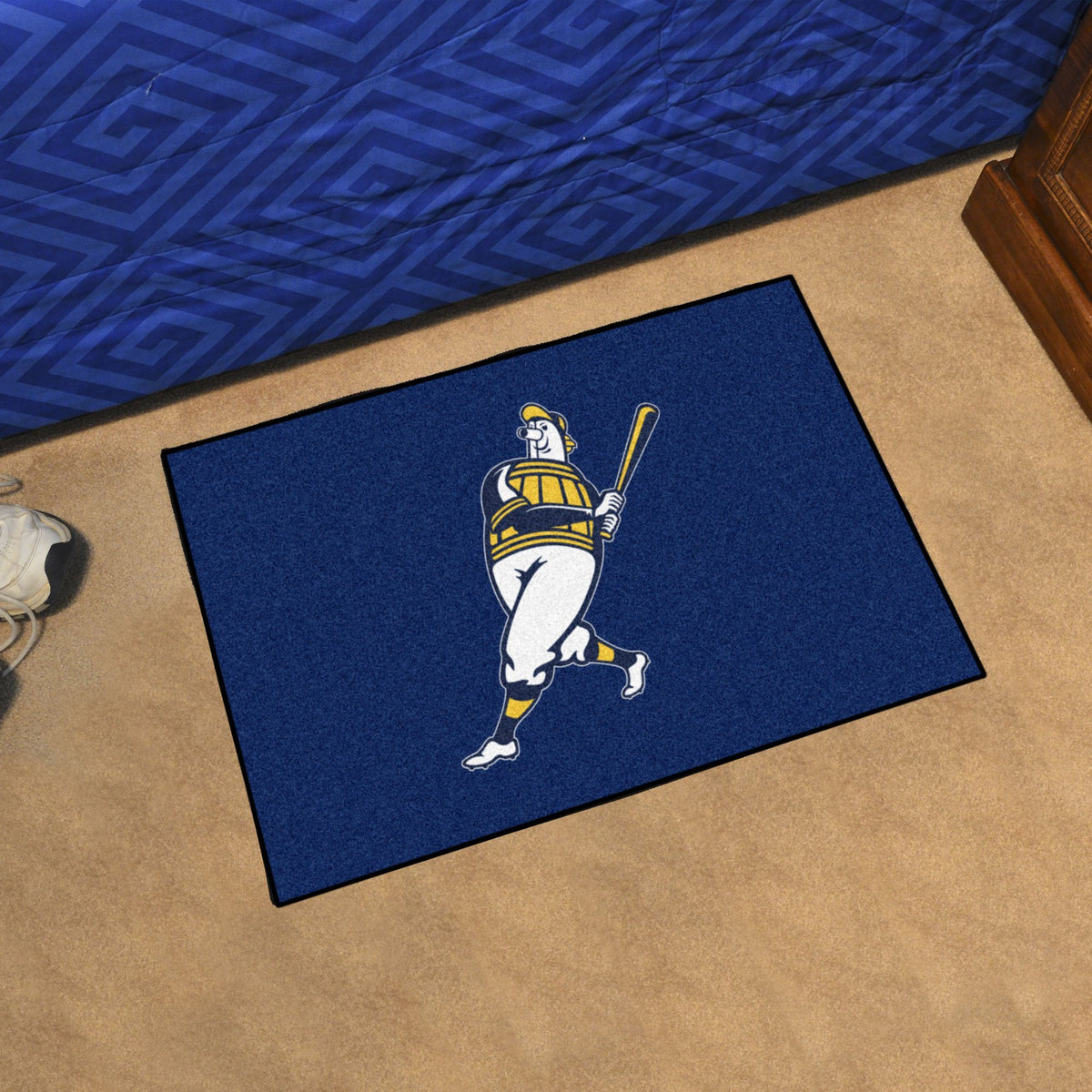 MLB - Starter Mat MLB Mats, Rectangular Mats, Starter Mat, MLB, Home Fan Mats Milwaukee Brewers 4