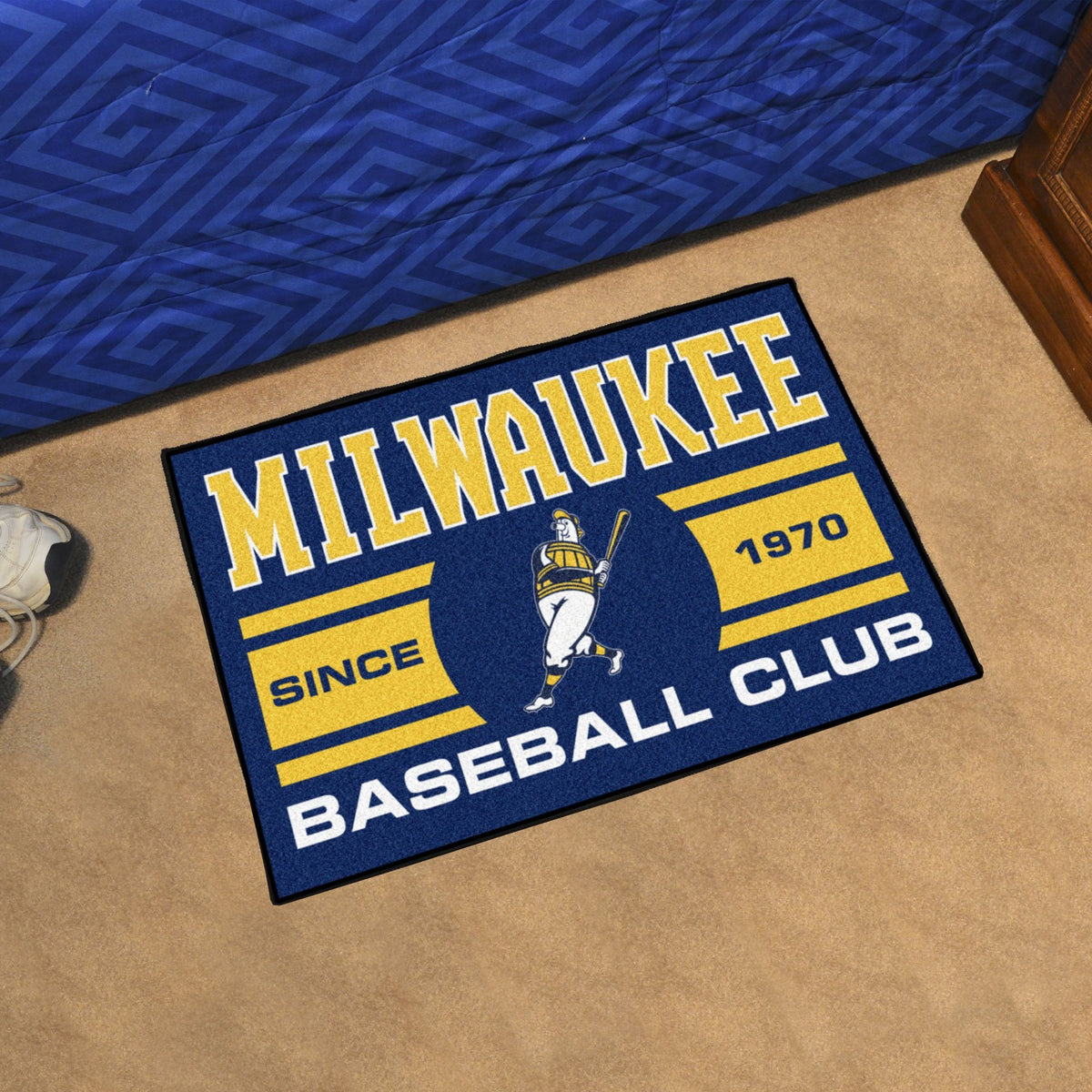 MLB - Starter Mat MLB Mats, Rectangular Mats, Starter Mat, MLB, Home Fan Mats Milwaukee Brewers 5