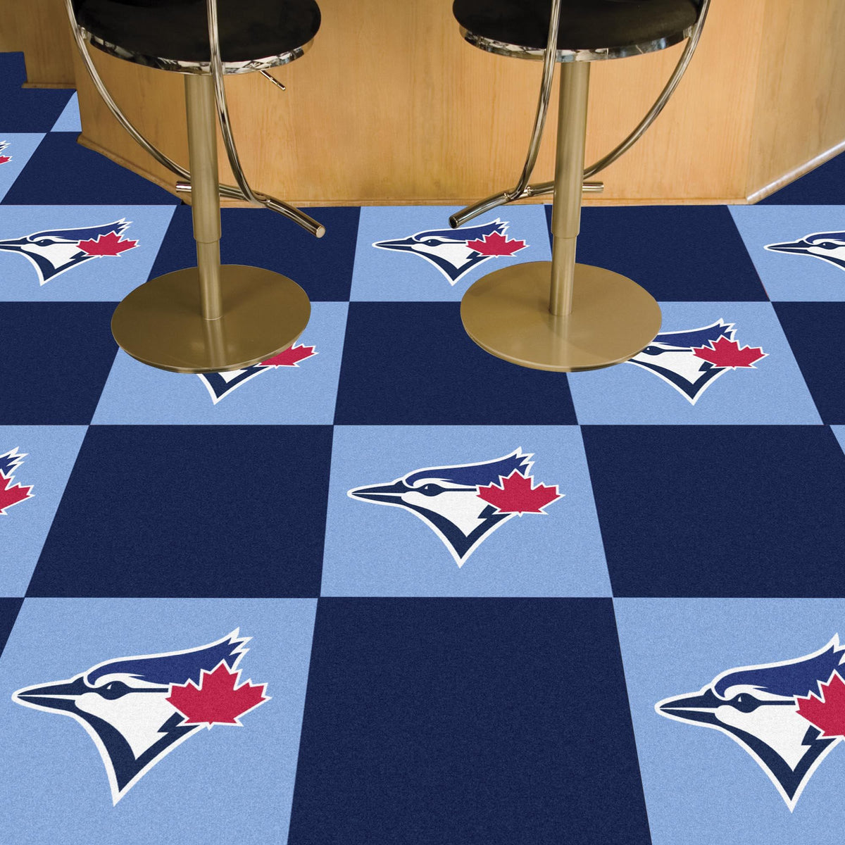 MLB - Team Carpet Tiles MLB Mats, Carpet Tile Flooring, Team Carpet Tiles, MLB, Home Fan Mats Toronto Blue Jays 2