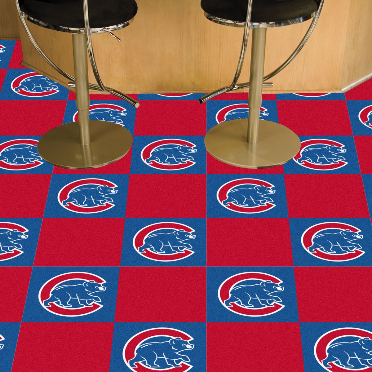 MLB - Team Carpet Tiles MLB Mats, Carpet Tile Flooring, Team Carpet Tiles, MLB, Home Fan Mats Chicago Cubs 2