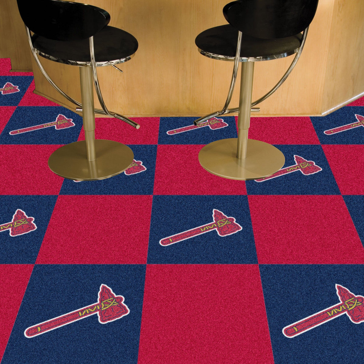 MLB - Team Carpet Tiles MLB Mats, Carpet Tile Flooring, Team Carpet Tiles, MLB, Home Fan Mats Atlanta Braves 2