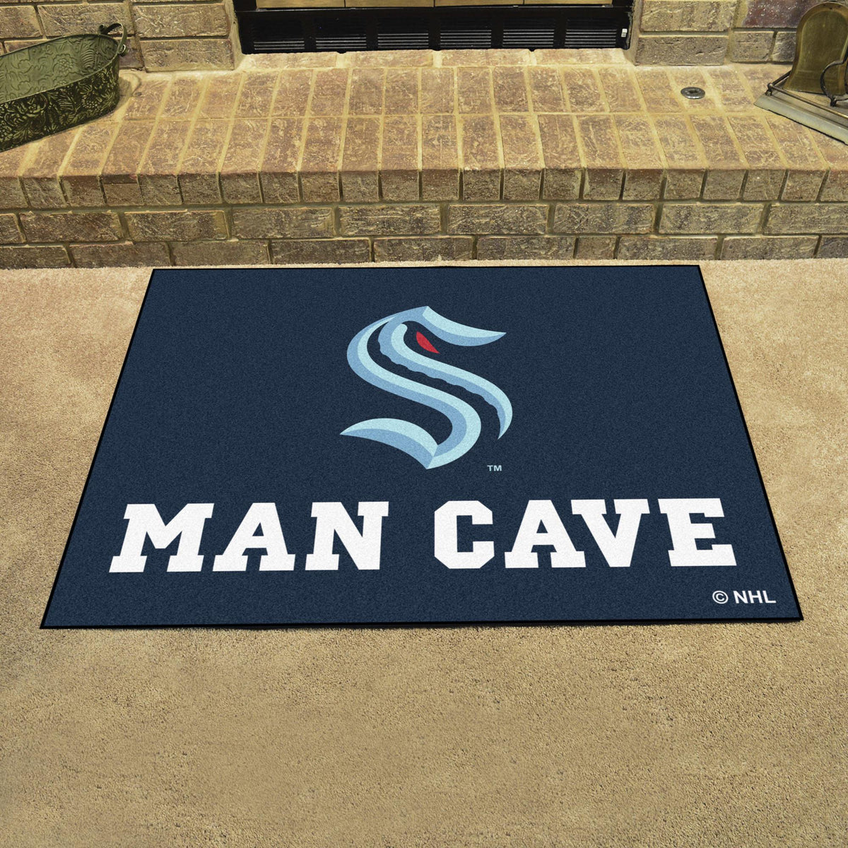 NHL - Man Cave All-Star NHL Mats, Rectangular Mats, Man Cave All-Star Mat, NHL, Home Fan Mats Seattle Kraken