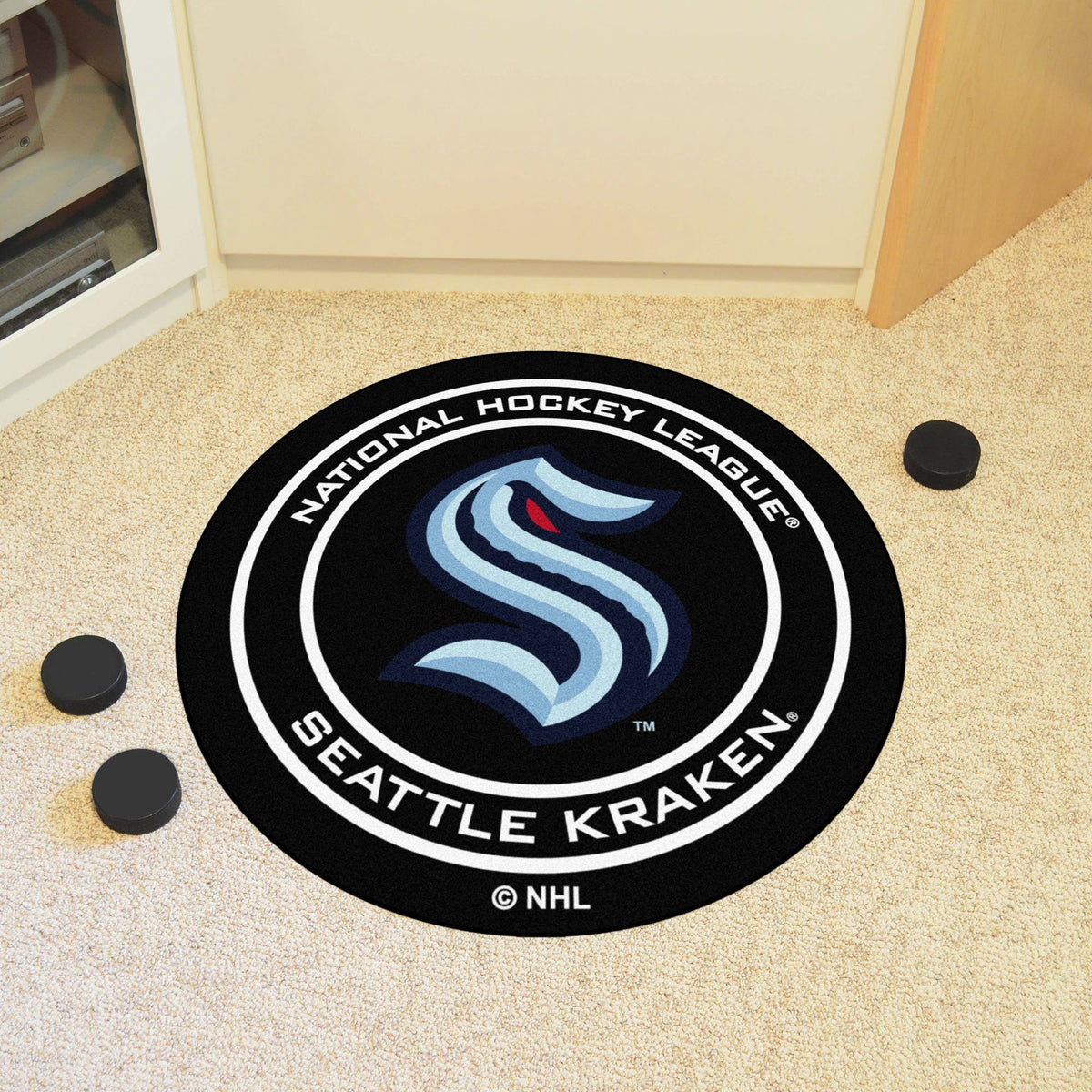 NHL Hockey Puck Mat NHL Hockey Puck Mat Fan Mats Seattle Kraken