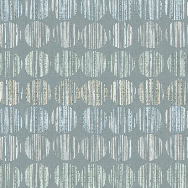 Batik Circle Printed Vinyl Flooring Design Pool - GIF Aqua