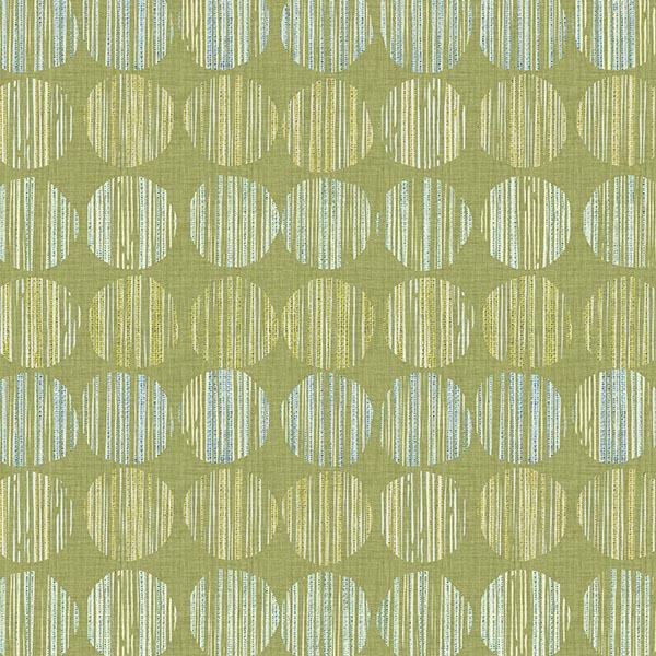 Batik Circle Printed Vinyl Flooring Design Pool - GIF Green