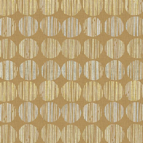 Batik Circle Printed Vinyl Flooring Design Pool - GIF Yellow