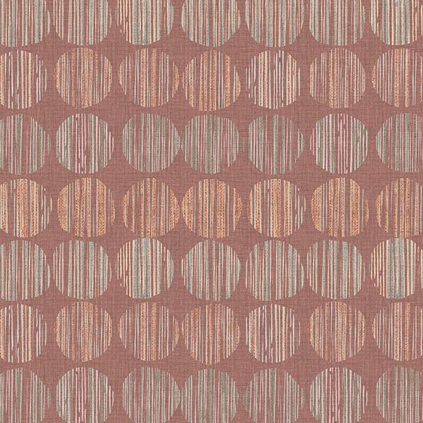Batik Circle Printed Vinyl Flooring Design Pool - GIF Pink